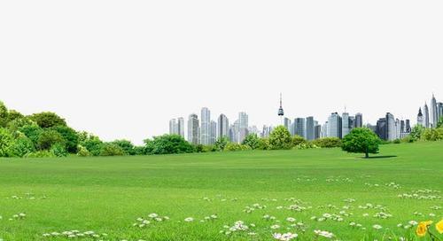 绿茵草地免抠摄影图