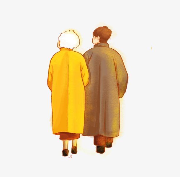 感恩节人物背影图片