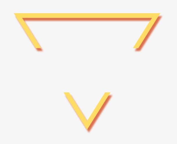 三角几何标签框