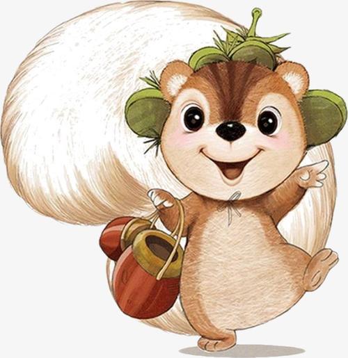 卡通可爱小松鼠