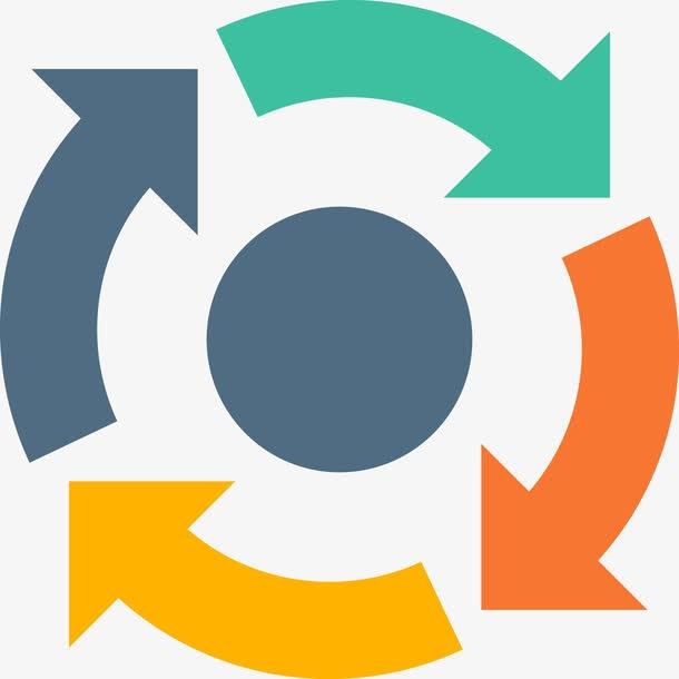 顺时针循环图标logo