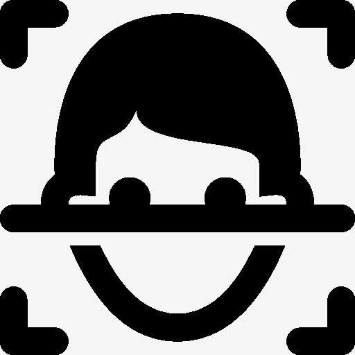 安全人脸识别扫描图标