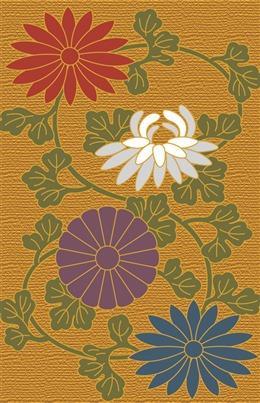 日本传统花卉背景