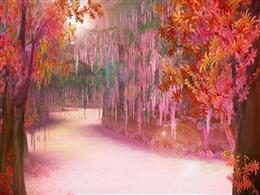 古风枫叶林背景