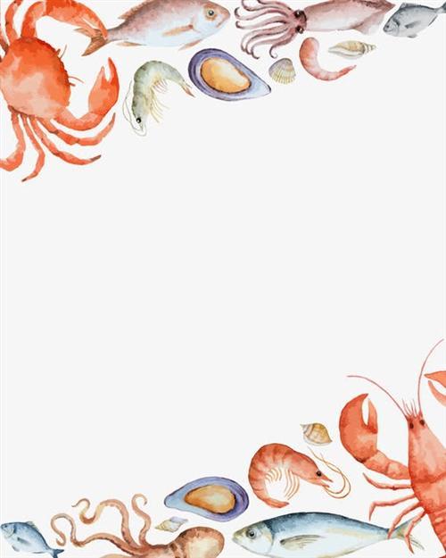 海洋主题墙边框