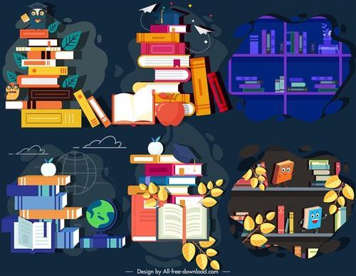 教育知识课本插画