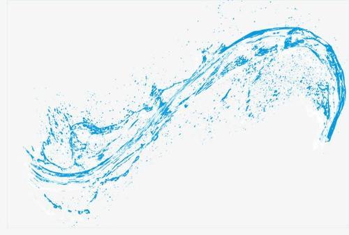 动感透明飞溅水花免抠素材