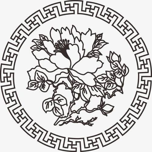 中国牡丹花纹样图案