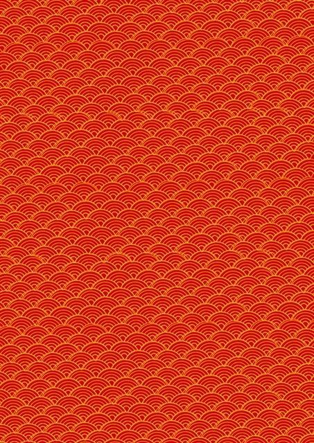 红色祥云底纹中国风背景