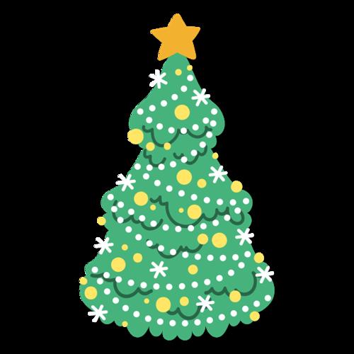 绿色卡通矢量圣诞树