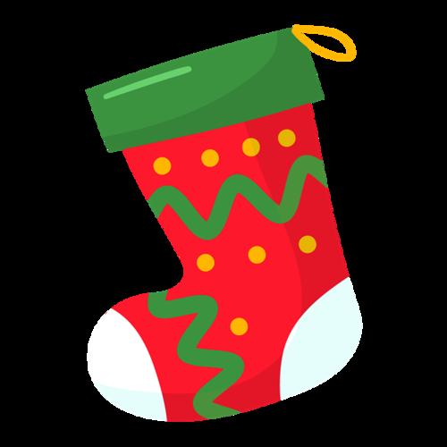 卡通矢量圣诞袜子