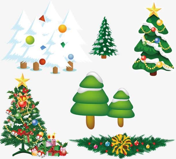 漂亮圣诞树卡通图片