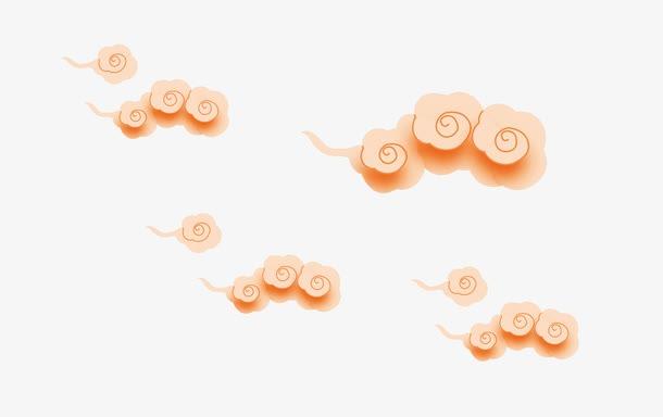 手绘中国风祥云图片