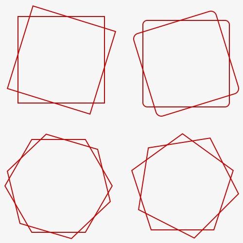 几何线条边框图片
