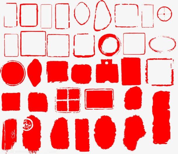 红色中国风印章