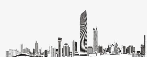 城市剪影手绘