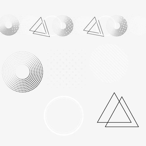 几何三角漂浮元素