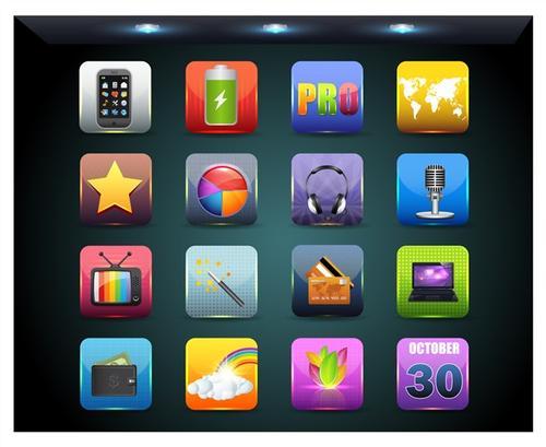 手机应用程序桌面图标