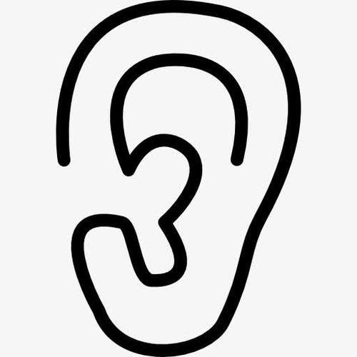 耳朵矢量图