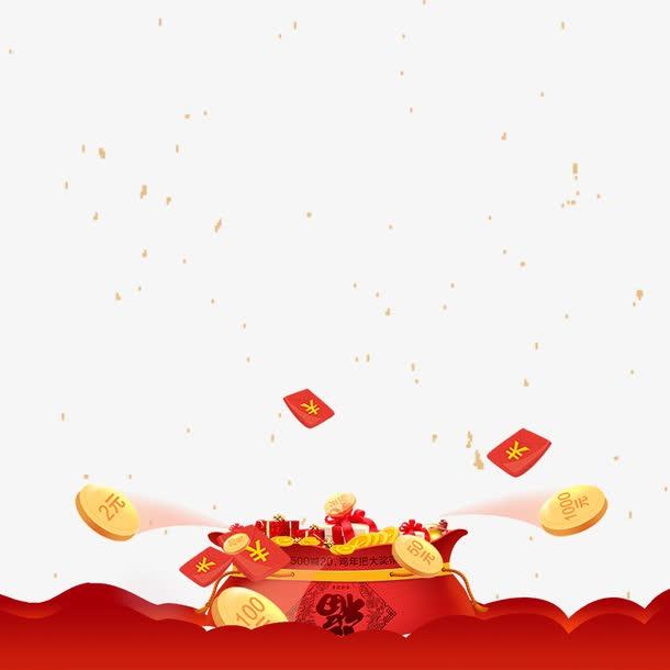 中国风新年福袋国潮边框
