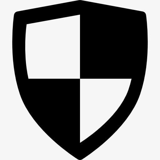 安全盾牌标志图标