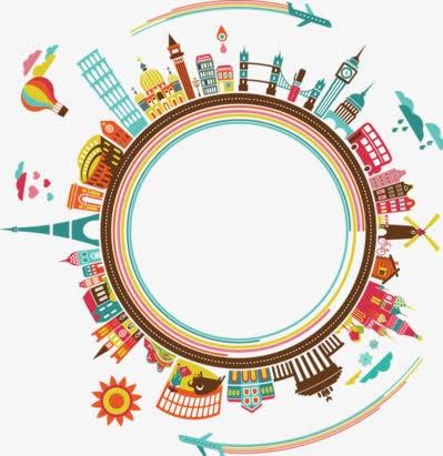 圆形城市元素