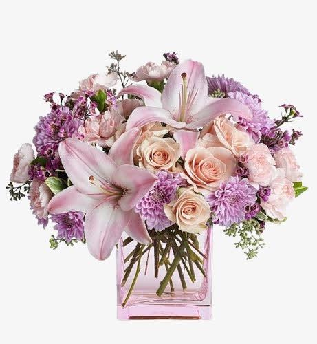 感恩节百合鲜花花束