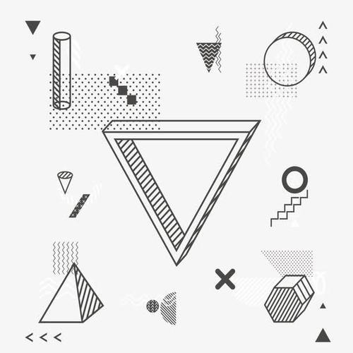 波普风几何元素