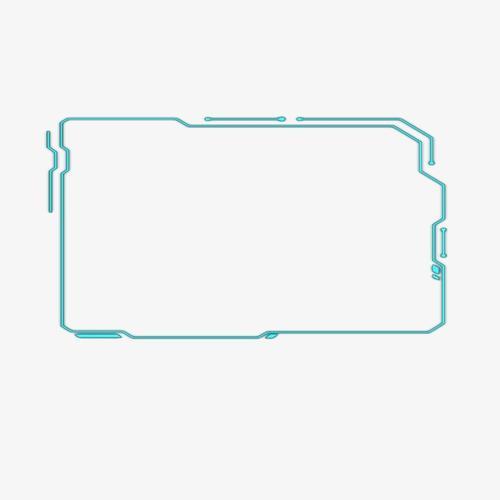 简约蓝色线条科技风边框