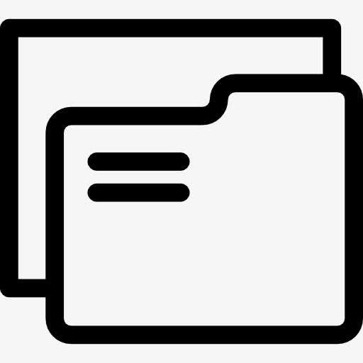 黑色手绘文件夹矢量图