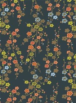 日式花卉背景