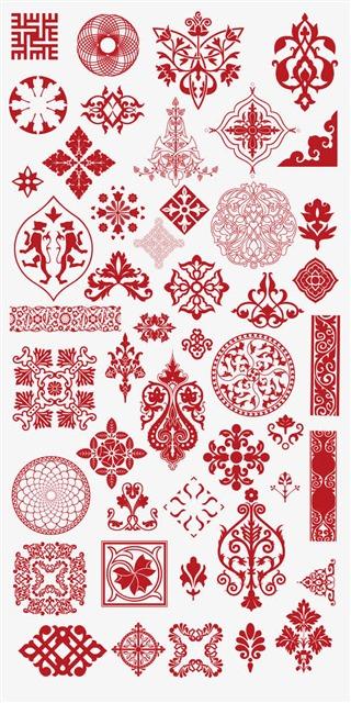 中国风古典花纹图案矢量
