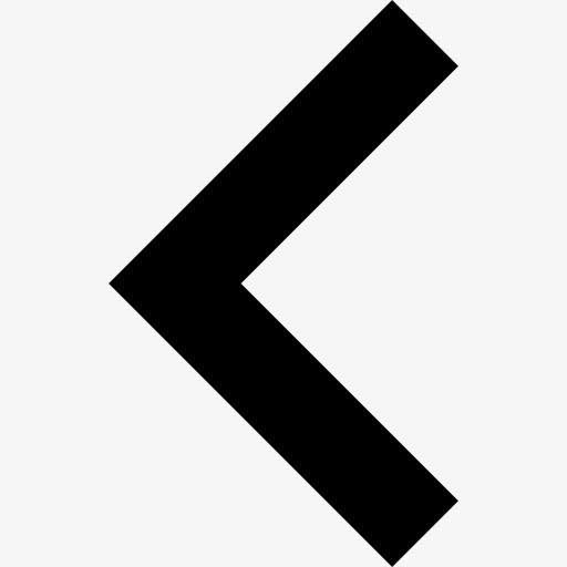 黑色左箭头矢量图标