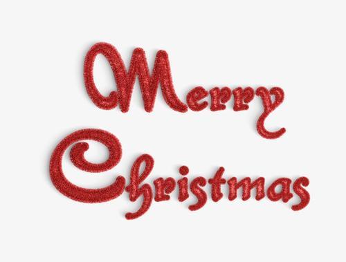 圣诞节红色矢量英文字体
