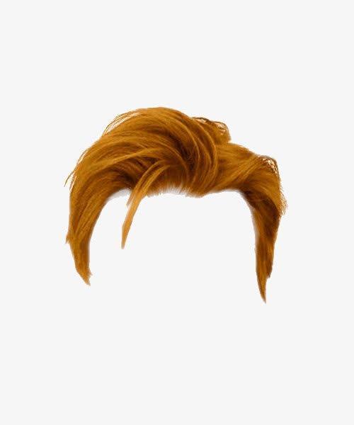 棕色男士帅气发型
