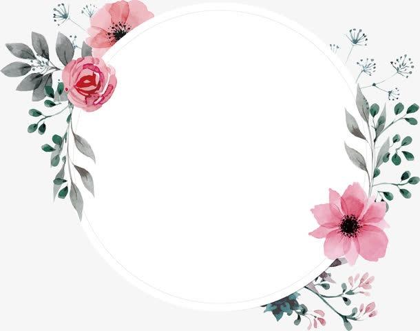 贺卡手绘花环边框
