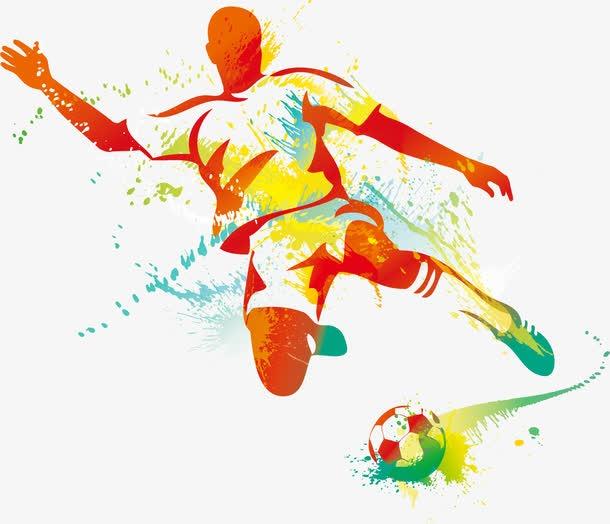 足球运动员手绘