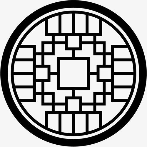 复古圆形中式边框
