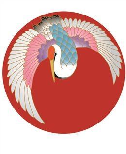 浮世绘仙鹤图案背景