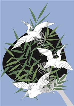 日本白鹤背景