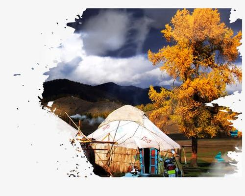 新疆旅游海报风景图