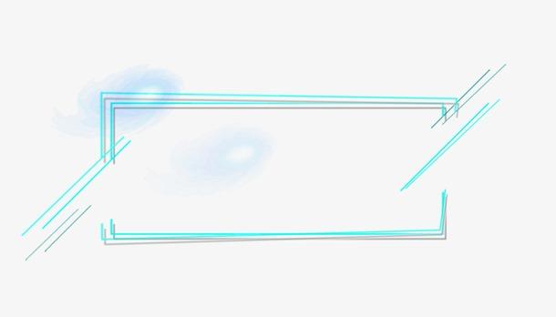 光效边框促销框