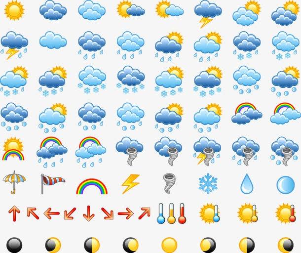 天气预报标志图片