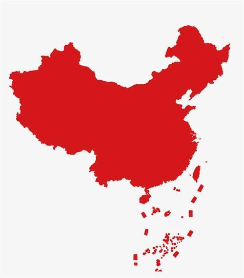 中国地图大公鸡轮廓图