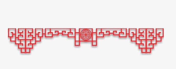 中式风格剪纸边框