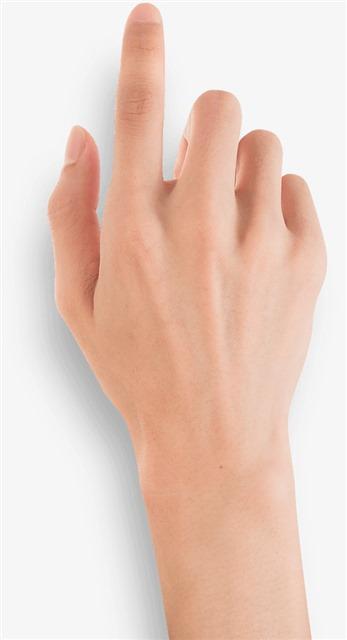 手指点击手势图片
