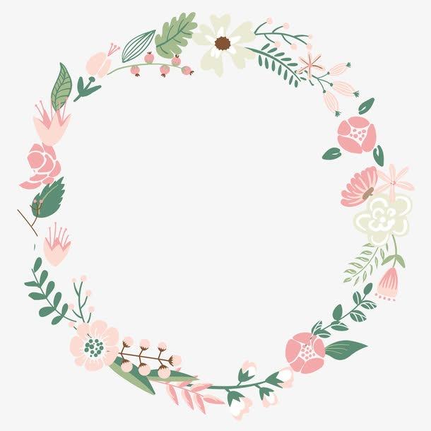 花瓣花环边框