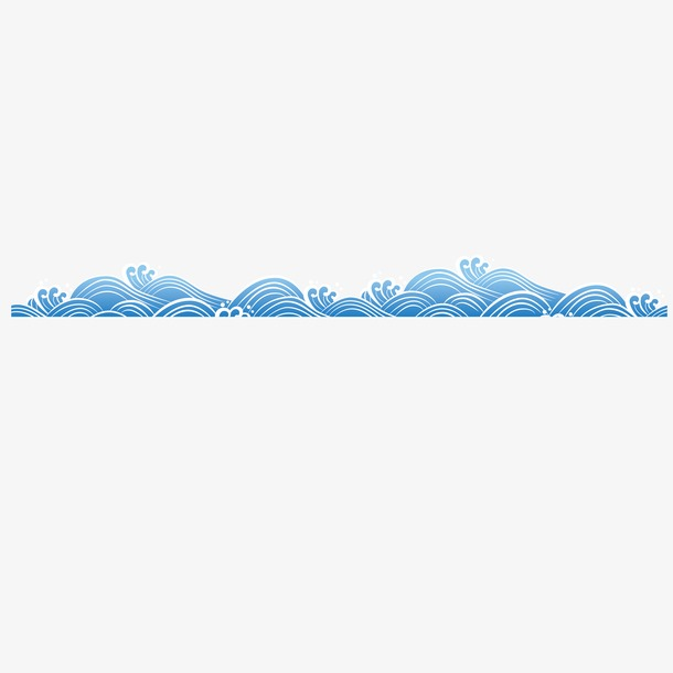 海浪花纹边框