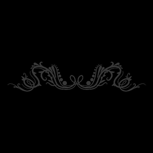 黑色花纹装饰元素