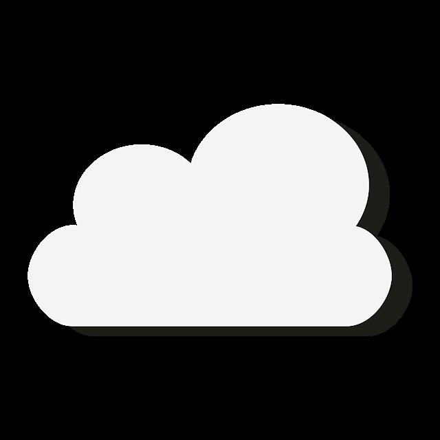 白色云朵扁平化卡通图片
